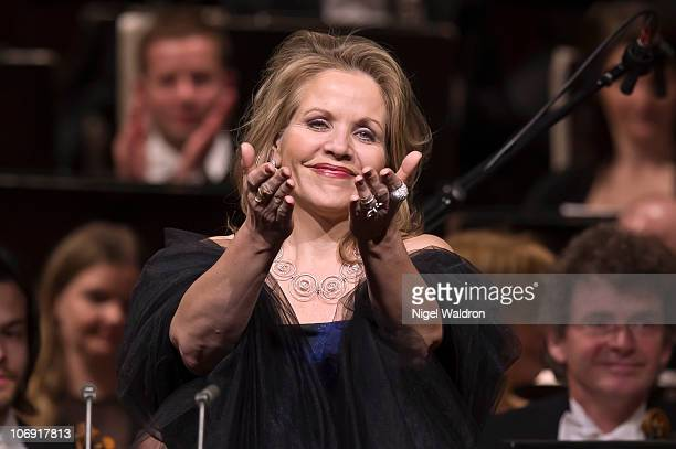 Renee Fleming performs at Oslo Concert Hall on November 16 2010 in Oslo Norway