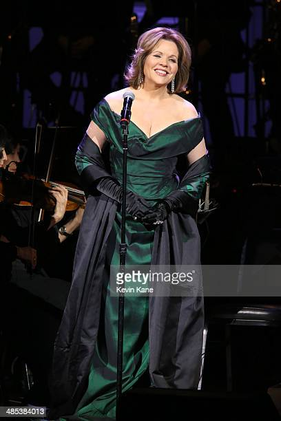 Renee Fleming performs on stage at The 2014 Revlon Concert For The Rainforest Fund at Carnegie Hall on April 17 2014 in New York City