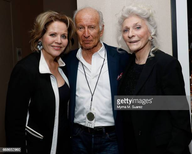 Renee Fleming Ron Delsener and Judy Collins attend Billy Joel's 40th consecutive soldout show at Madison Square Garden on April 14 2017 in New York...