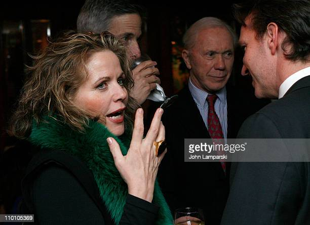 Renee Fleming Tim Jessell and Peter Brown attend the 27th annual Evening of Readings PreGala kickoff at Michael's Restaurant on March 14 2011 in New...