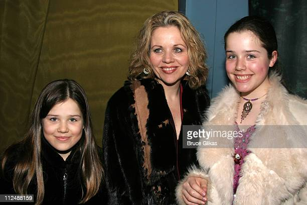 Renee Fleming with children during Monty Python's 'Spamalot' Opening Night on Broadway After Party at Roseland Ballroom in New York City New York...