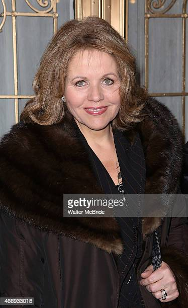 Renee Flemming attends the Broadway Opening Night performance of 'The Heidi Chronicles' at The Music Box Theatre on March 19 2015 in New York City