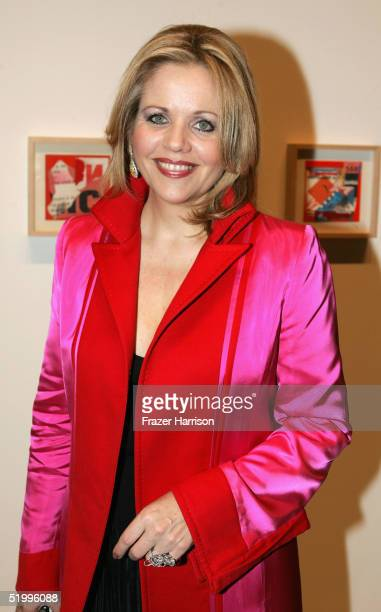Renee Flemming attends the opening of Richard Meiers art exhibition at the Gagosian Gallery on January 14 2005 in Beverly Hills California