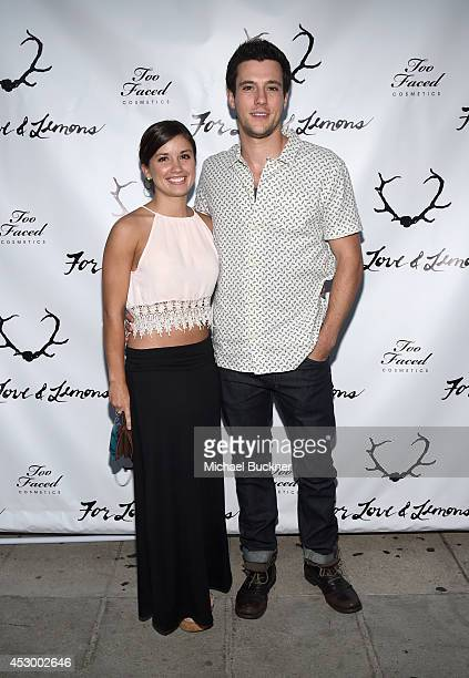Renee Gardner and actor Drew Roy attend For Love and Lemons annual SKIVVIES party cohosted by Too Faced and performance by The Shoe at The Carondelet...