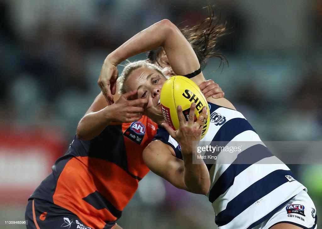 AFLW Rd 7 - GWS v Geelong : News Photo