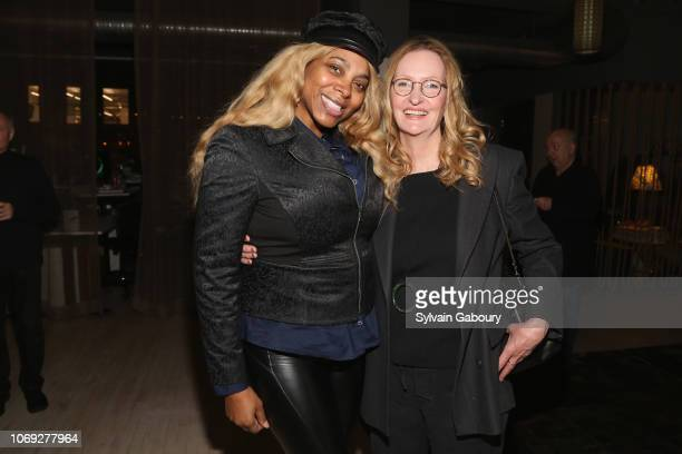 Renee Garnes and Anne Geddes attend Blonde Co Creative House Holiday Party 2018 on December 6 2018 in New York City
