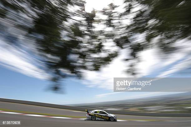 Renee Gracie drives the Harvey Norman Supergirls Nissan during the Bathurst 1000 which is race 21 of the Supercars Championship at Mount Panorama on...