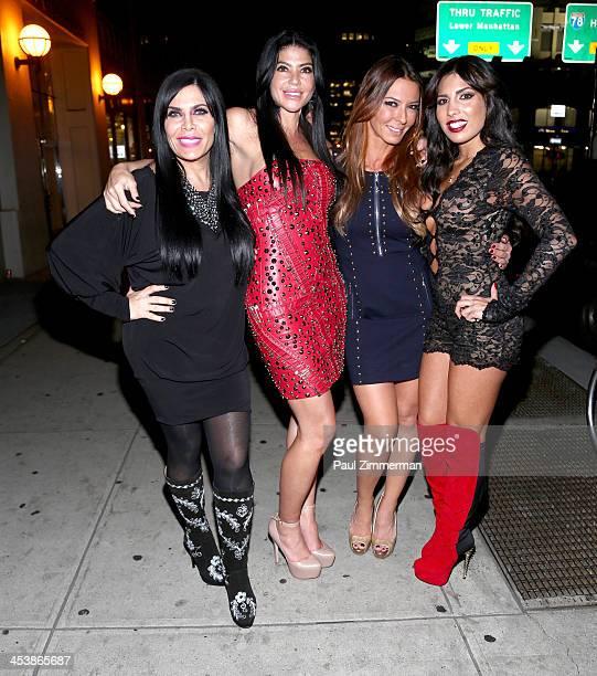 Renee Graziano Alicia DiMichele Garofalo Drita D'Avanzo and Natalie Guercio the Mob Wives attend Mob Wives Season 4 premiere at Greenhouse on...