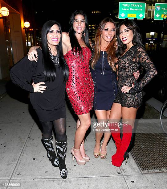 "Renee Graziano, Alicia DiMichele Garofalo, Drita D'Avanzo and Natalie Guercio the ""Mob Wives"" attend ""Mob Wives"" Season 4 premiere at Greenhouse on..."