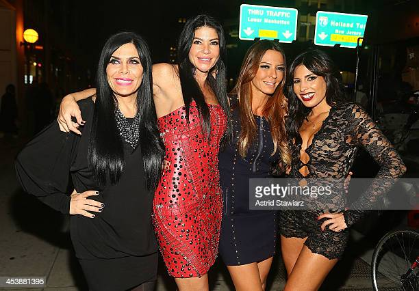 "Renee Graziano, Alicia DiMichele Garofalo, Drita D'Avanzo and Natalie Guercio attend ""Mob Wives"" Season 4 premiere at Greenhouse on December 5, 2013..."