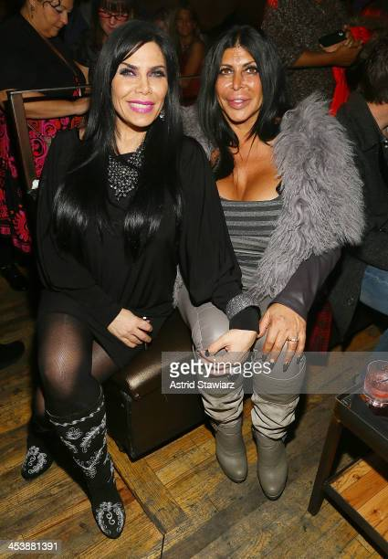 Renee Graziano and Angela 'Big Ang' Raiola attend Mob Wives Season 4 premiere at Greenhouse on December 5 2013 in New York City