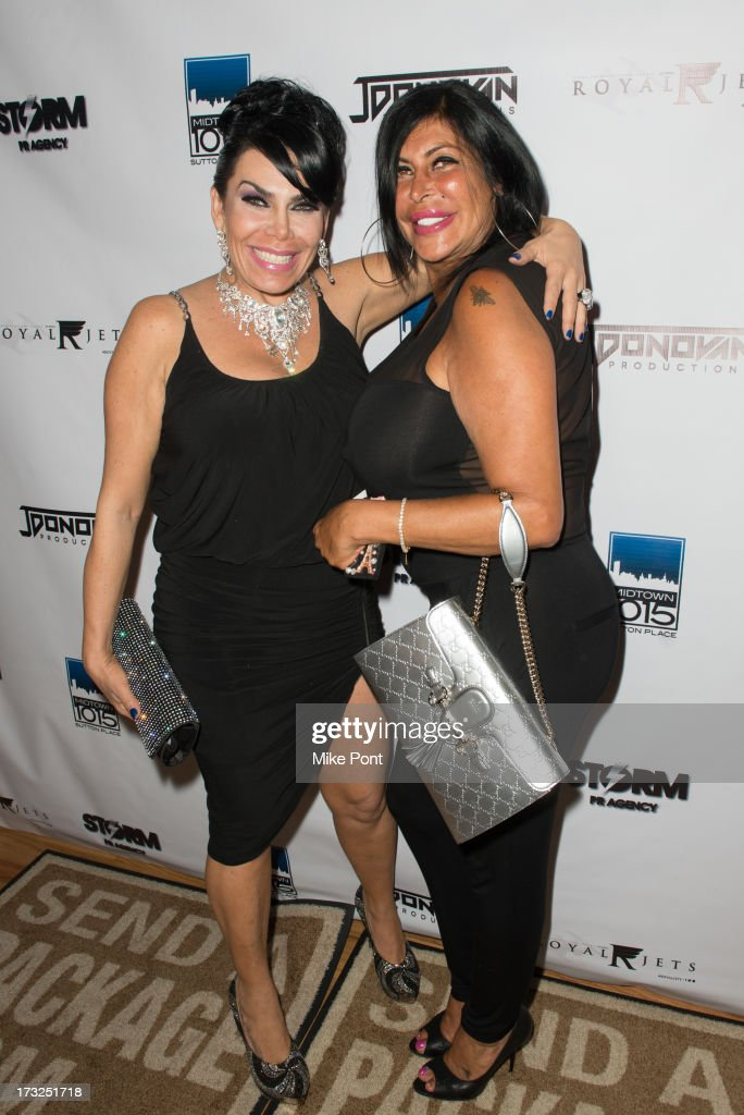 Renee Graziano and Angela 'Big Ang' Raiola attend Renee Graziano's Celebrity Dinner Party at Midtown 1015 on July 10, 2013 in New York City.