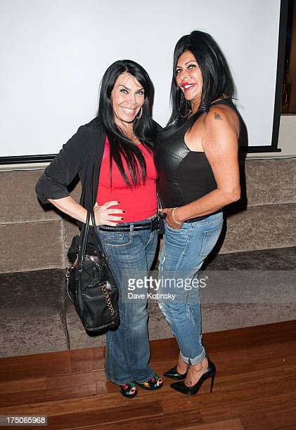 Renee Graziano and Angela 'Big Ang' Raiola attends dinner and a movie at KTCHN Restaurant on July 30 2013 in New York City