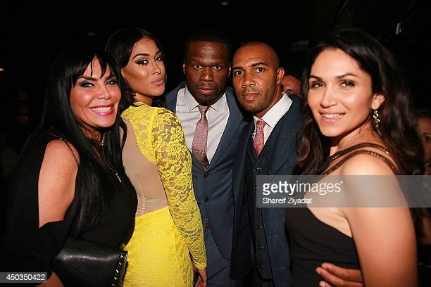Renee Graziano Tatted Up Holly 50 Cent Omari Hardwick and Lela Loren attend the 'Power' premiere at Highline Ballroom on June 2 2014 in New York City
