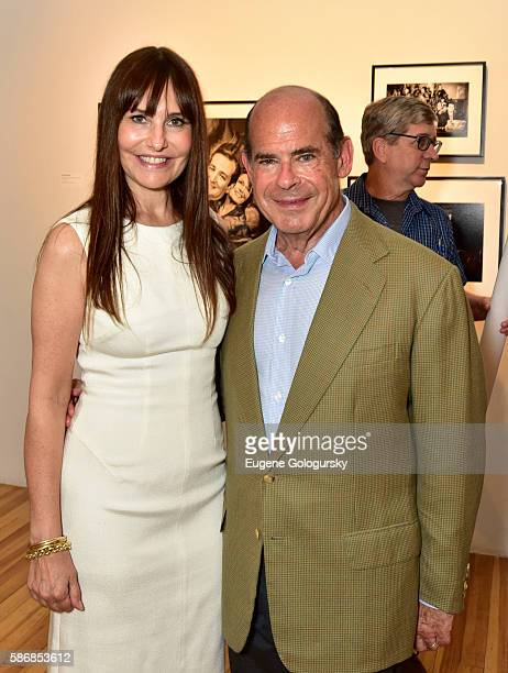 Renee Harbers Liddell and Jeffrey Rosen attend the Opening Reception For ICP's Special Exhibition Winning The White House From Press Prints To...