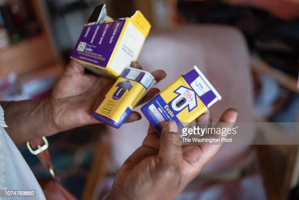 Renee Howell displays her supply of naloxone a fast working antidote for opioid overdoses Sam Wilson and Renee Howell have been heroin addicts for...