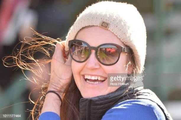 Renee Hoysted after winning the Polytrack Handicap at Ladbrokes Park Lakeside Racecourse on August 05 2018 in Springvale Australia