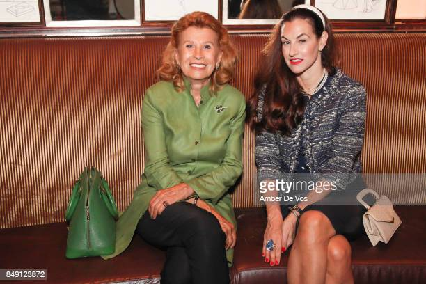 Renee Landegger and Natalie Ross attend the Luncheon for NY Women's Foundation Hosted by Jean Shafiroff at Le Cirque on September 18 2017 in New York...