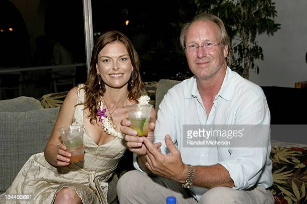 Renee Loux and William Hurt during 2007 Maui Film Festival Shep Gordon's Party at Shep Gordon's Residence in Kihei HI United States