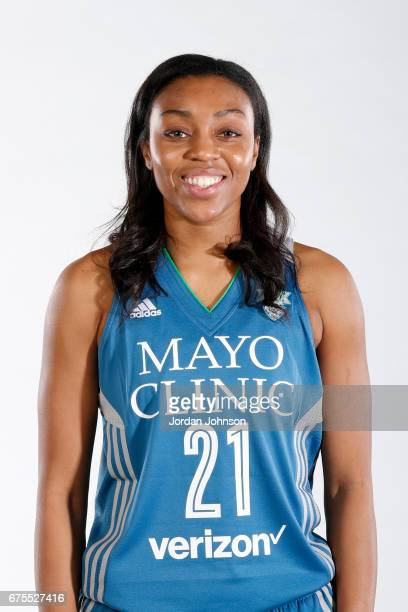 Renee Montgomery of the Minnesota Lynx poses for portraits during 2017 Media Day on May 1 2017 at the Minnesota Timberwolves and Lynx Courts at Mayo...