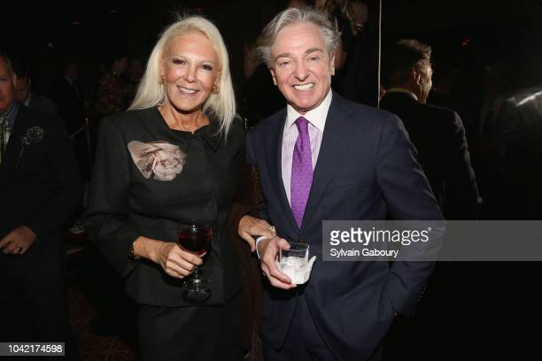 Renee Morrison and Geoffrey Bradfield attend David Patrick Columbia And Chris Meigher Toast The QUEST 400 At DOUBLES on September 27 2018 in New York...