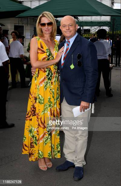 Renee O'Brien and Ross Kemp on day eleven of the Wimbledon Championships at the All England Lawn Tennis and Croquet Club Wimbledon
