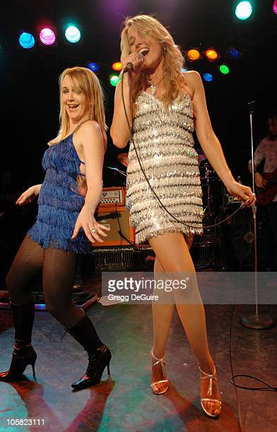 Renee O'Connor and Lucy Lawless during Lucy Lawless in Concert at The Roxy Theater January 13 2007 at The Roxy in West Hollywood California United...