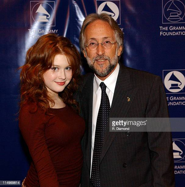Renee Olstead and Neil Portnow during GRAMMY Entertainment Law Initiative February 11 2005 at Regent Beverly Wilshire Hotel in Beverly Hills CA...