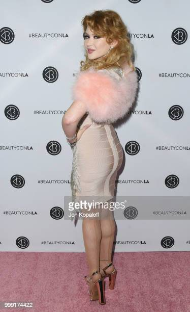 Renee Olstead attends Beautycon Festival LA 2018 at Los Angeles Convention Center on July 14 2018 in Los Angeles California