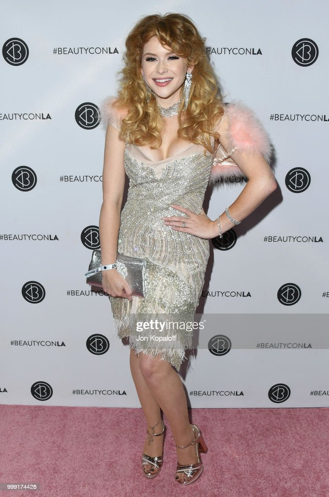 Renee Olstead attends Beautycon Festival LA 2018 at Los Angeles Convention Center on July 14, 2018 in Los Angeles, California.
