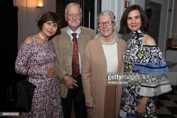 Renee Price Edward Manley Maya Manley and Phyllis LaRiccia attend Wiener Werkstatte 19031932 The Luxury of Beauty opening reception at Neue Galerie...