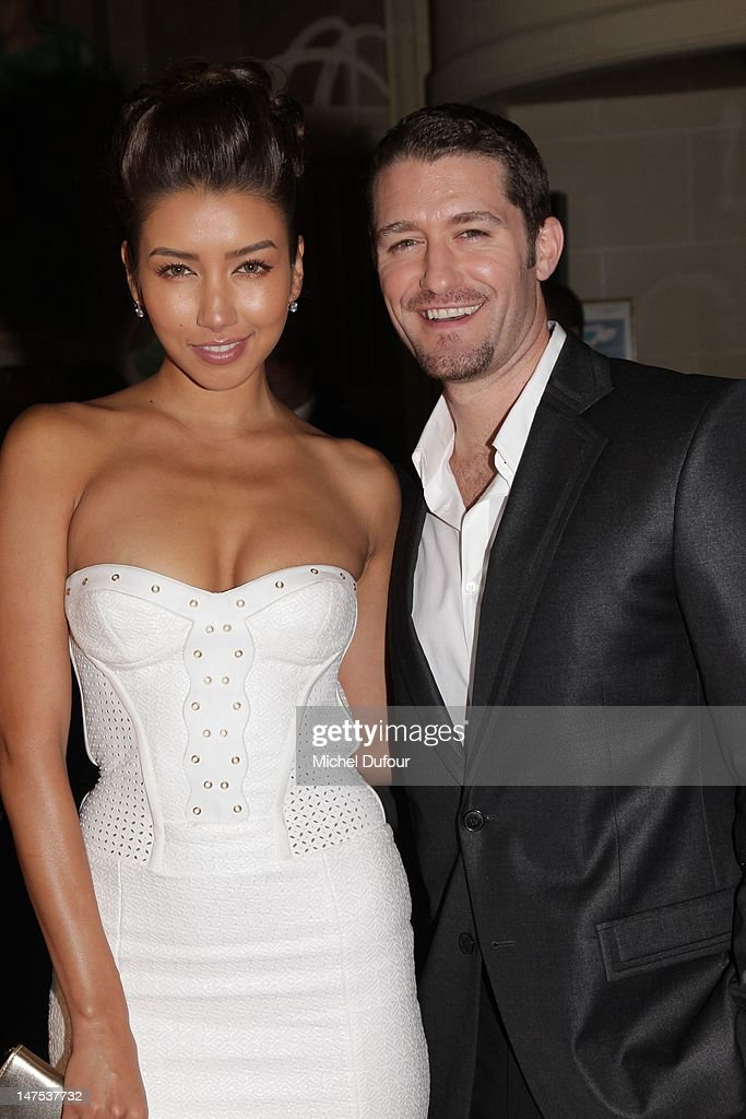 Renee Puente and Matthew Morrison arrive the Versace Haute-Couture Show as part of Paris Fashion Week Fall / Winter 2012/13 on July 1, 2012 in Paris, France.