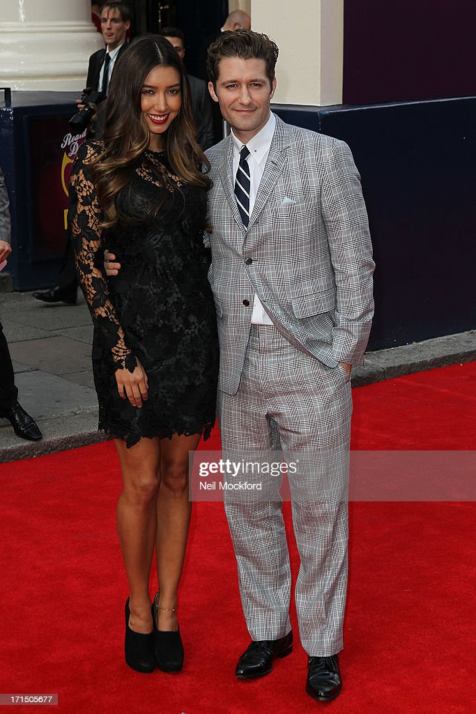 Renee Puente and Matthew Morrison attend the press night for 'Charlie and the Chocolate Factory' at Theatre Royal on June 25, 2013 in London, England.>>