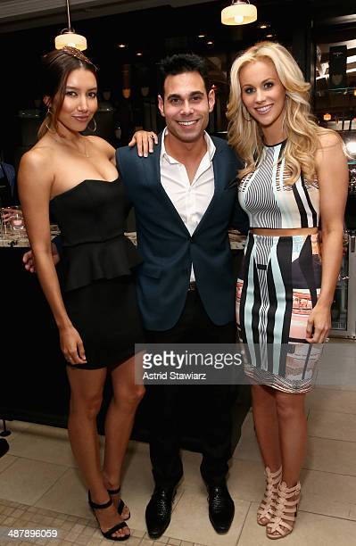 Renee Puente Eric Podwall and Candice Crawford attend the Dom Perignon and Eric Podwall host of the evening before The White House Correspondents'...