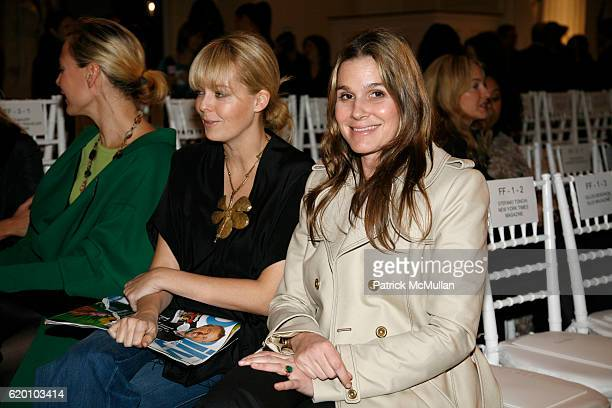 Renee Rockefeller Lauren Dupont and Aerin Lauder attend OSCAR DE LA RENTA Fall 2008 Fashion Show at 583 Park Ave on February 4 2008 in New York City