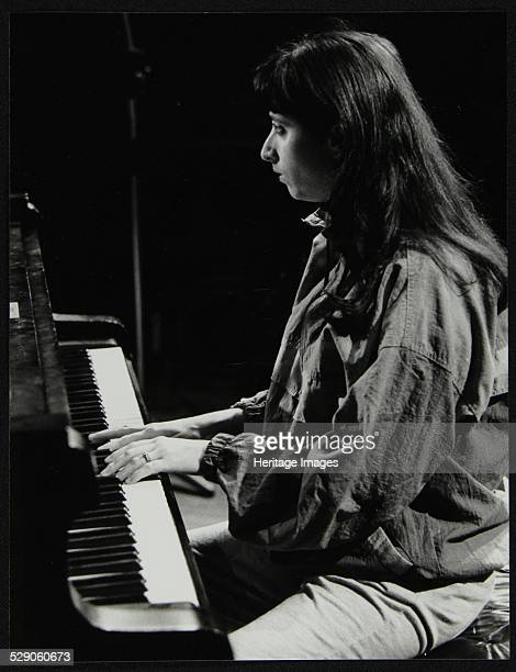 Renee Rosnes, pianist with the J J Johnson Quintet, playing at the Hertfordshire Jazz Festival, St Albans Arena, 4 May 1993. Artist: Denis Williams .