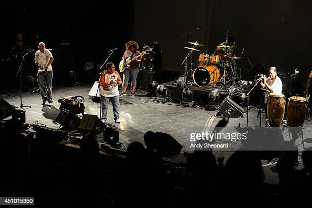 Renee Scroggins and the band ESG perform on stage for James Lavelle's Meltdown at the Queen Elizabeth Hall on June 21 2014 in London United Kingdom