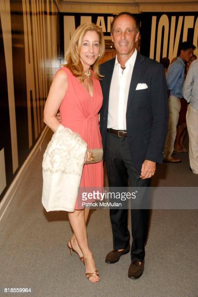 Renee Steinberg and Richard Steinberg attend GUILD HALL SUMMER GALA CELEBRATING THE OPENING OF THE BARBARA KRUGER EXHIBITION at the Guild Hall on...