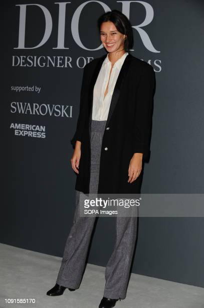 Renee Stewart attends the Christian Dior Designer of Dreams fashion exhibition supported by Swarovski at the VA Museum London