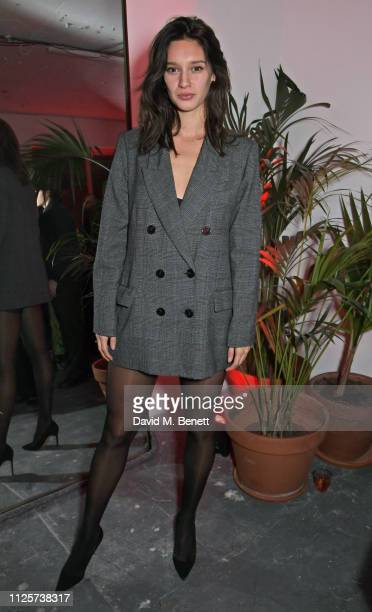 Renee Stewart attends the LOVE x The Store X party celebrating LOVE issue 21 supported by Perrier Jouet at The Store X on February 18 2019 in London...