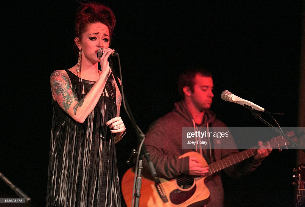 Renee Yohe and Sean Sheahan of Bearcat performs at The Irving Theater on November 4, 2012 in Indianapolis, Indiana.