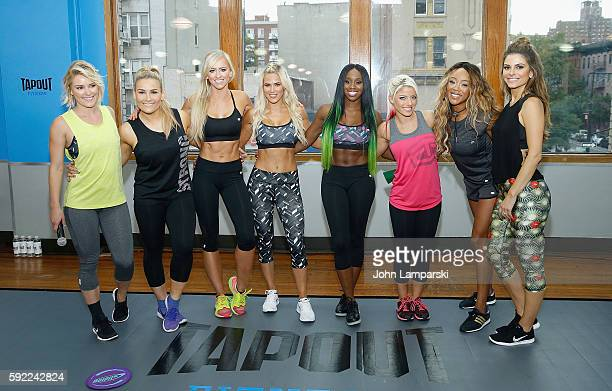 Renee Young Natalya Danielle Moinet ' Summer Rae Catherine Joy Perry 'Lana' Naomi Alexa Bliss Alicia Fox and Maria Menounos attend Tapout Fitness WWE...