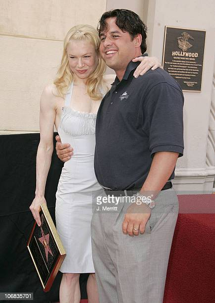 Renee Zellweger and Brother Drew Zellweger during Renee Zellweger Honored with a Star on the Hollywood Walk of Fame for Her Achievements in Film at...