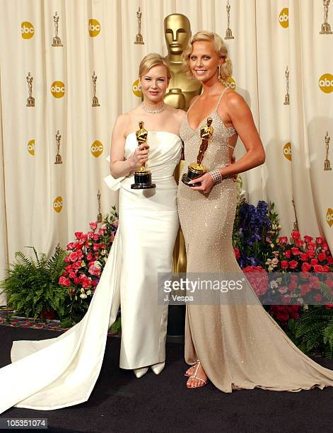 Renee Zellweger and Charlize Theron, winners for Best Supporting Actress and Best Actress