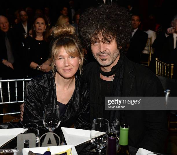 Renee Zellweger and Doyle Bramhall attend the 30th Annual Rock And Roll Hall Of Fame Induction Ceremony at Public Hall on April 18 2015 in Cleveland...