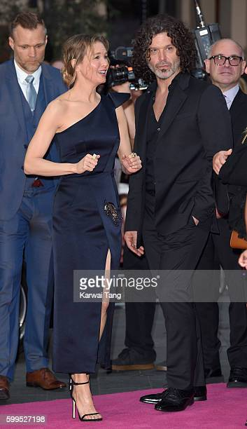 Renee Zellweger and Doyle Bramhall II arrive for the World premiere of Bridget Jones's Baby at Odeon Leicester Square on September 5 2016 in London...