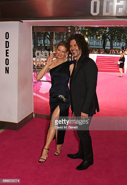 Renee Zellweger and Doyle Bramhall II attend the World Premiere of Bridget Jones's Baby at Odeon Leicester Square on September 5 2016 in London...