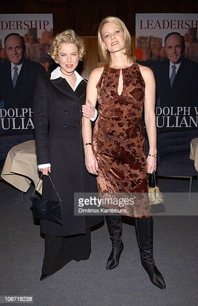 Renee Zellweger and Eve Weinstein during Harvey Weinstein and Miramax Books Celebrate the Success of Rudolph Giuliani's Literary Debut Leadership at...
