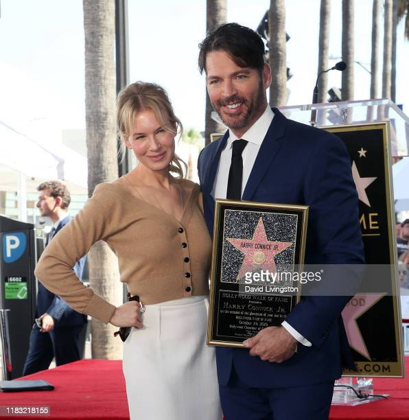 Renee Zellweger and Harry Connick Jr. Attend his being honored with a Star on Hollywood Walk of Fame on October 24, 2019 in Hollywood, California.