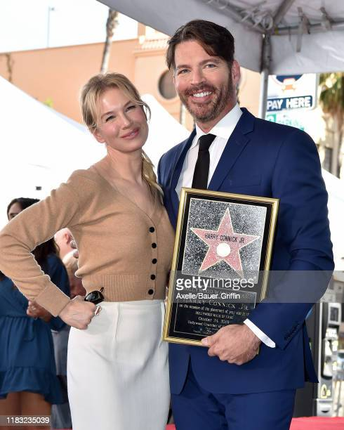 Renee Zellweger and Harry Connick Jr attend the ceremony honoring Harry Connick Jr with star on the Hollywood Walk of Fame on October 24 2019 in...